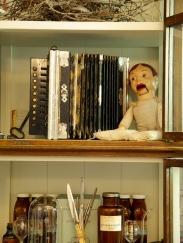 "German accordion c1920 and antique ventriloquist doll - ""Old Butler Solomon"""